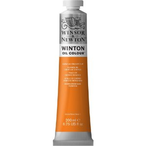 Tinta Óleo Winton Cadmium Orange Hue  Winsor & Newton 200ml