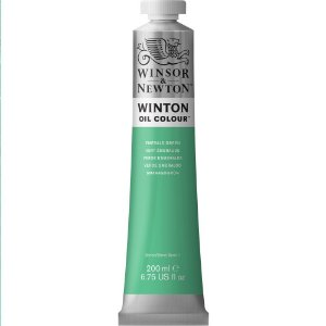 Tinta Óleo Winton Emerald Green Winsor & Newton Tubo 200ml
