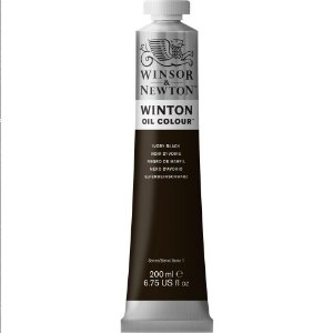 Tinta Óleo Winton Ivory Black Winsor & Newton Tubo 200ml