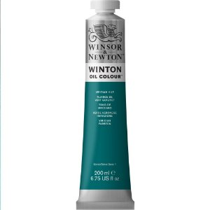 Tinta Óleo Winton Viridian Hue Winsor & Newton Tubo  200ml