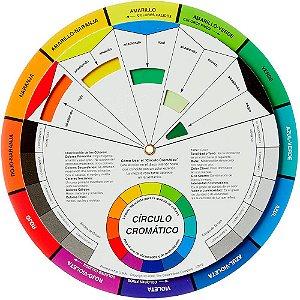 Disco De Cores Circulo Cromatico Grande 23,5CM 3492 Cw