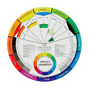 Disco De Cores Circulo Cromatico Pequeno 13CM 3502 Cw