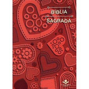 Bíblia Sagrada Lm Capa Dura C/Aba E Ima Vermelha