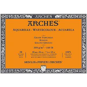 Bloco Arches Torchon Papel Aquarela Rough 18X26Cm 20Fls