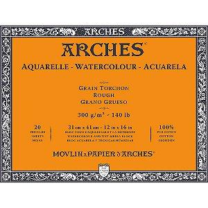 Bloco Papel Arches Aquarela Torchon Rough 31X41Cm 20 Folhas