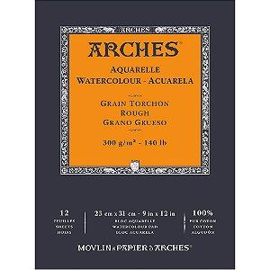Bloco Arches Papel Aquarela Torchon Rough 23X31Cm 12 Folhas