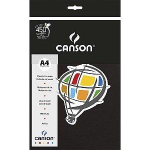Papel Colorido A4 Canson Color Preto 180g 10 Folhas