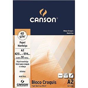 Bloco A2 Canson Croquis Papel Manteiga 40g 50 Folhas
