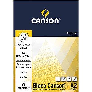 Bloco A2 Papel Canson Branco 200g 20 Folhas 66667043