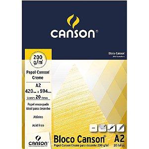 Bloco A2 Papel Canson Creme 200g 20 Folhas 66667040