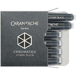 6x Cartuchos Caneta Tinteiro Caran D'Ache Chromatics Cosmic Black