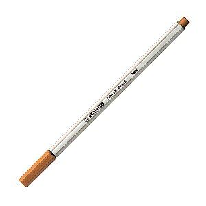 Caneta Pincel Stabilo Pen 68 Brush Lettering Marrom Claro