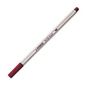 Caneta Pincel Stabilo Pen 68 Brush Lettering Vinho Bordo