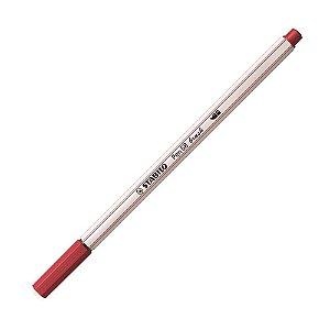 Caneta Pincel Stabilo Pen 68 Brush Lettering Vermelho Escuro 568/50