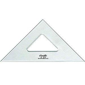 Esquadro Trident Acrílico 16Cm 45°/45°/90° Sem Escala 2516