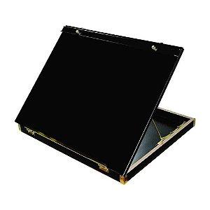 Prancheta Trident Portatil A3 C/ Prendedor Acrílico Black Piano 5000Al