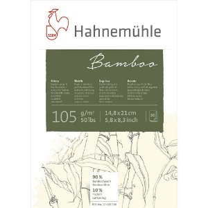 Bloco Desenho A5 Bamboo Sketch Hahnemuhle 105 g/m² 30Fls