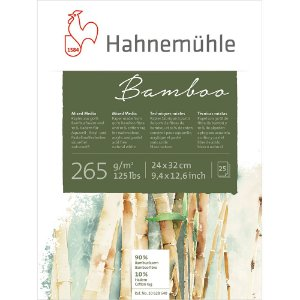 Bloco Bamboo Mixed Media Hahnemuhle 265 g/m² 24X32 25 Folhas