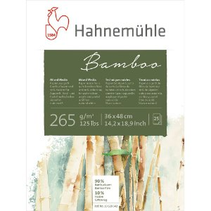 Bloco Bamboo Hahnemuhle Mixed Media 265 g/m² 36X48Cm 25Fls