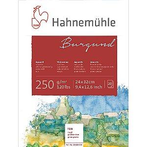 Bloco Aquarela Burgund 250 g/m² Rough 24X32 20Fls Hahnemuhle