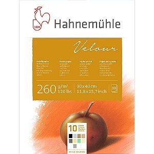 Bloco Pastel Velour Hahnemuhle 260 g/m² 30x40 C/10 Cores 10Fls