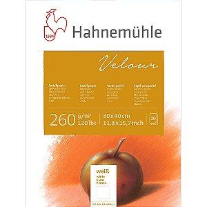 Bloco Pastel Velour Hahnemuhle 30X40Cm 260G Branco 10Fls