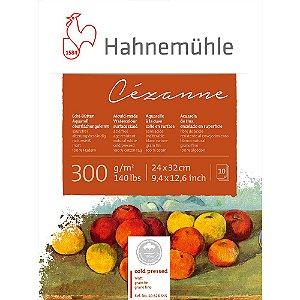 Bloco Aquarela Cezanne Hahnemuhle 300 g/m² 24x32 10 Fls Cold Pressed