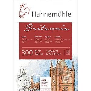 Bloco Aquarela Britannia 300 g/m² Hahnemuhle 17x24 12Fls Cold Pressed