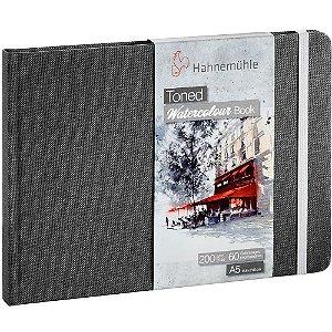 Bloco Sketch Book A5 Toned Hahnemuhle Cinza 200 g/m² 30Fls Paisagem Watercolour Book
