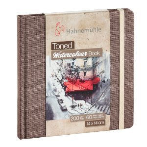 Bloco Sketch Book Hahnemuhle Toned 200 g/m² Bege 14x14 30Fls Watercolour