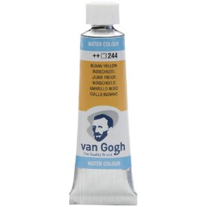 Tinta Aquarela Talens Van Gogh Indian Yellow 244 Tubo 10ml