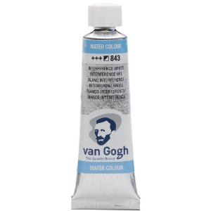 Tinta Aquarela Talens Van Gogh Interference White 843 Tubo 10ml