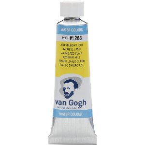 Tinta Aquarela Talens Van Gogh Azo Yellow Light 268 Tubo 10ml