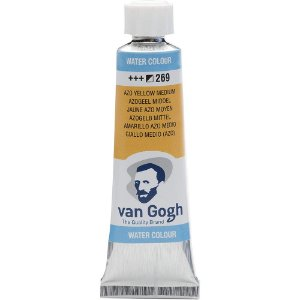 Tinta Aquarela Talens Van Gogh Azo Yellow Medium 269 Tubo 10ml