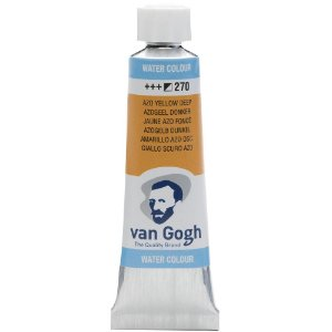 Tinta Aquarela Talens  Van Gogh Azo Yellow Deep 270 Tubo 10ml