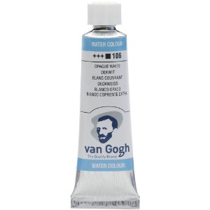 Tinta Aquarela Talens Van Gogh White Extra Opaque 106 Tubo 10ml