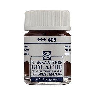Tinta Gouache Talens Extra Fine 16ml Burnt Umber 409 Marrom