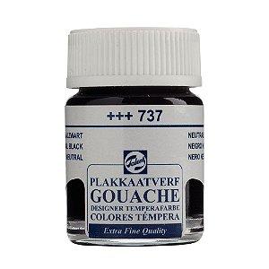 Tinta Gouache Talens Extra Fine 16ml Neutral Black 737 Preto