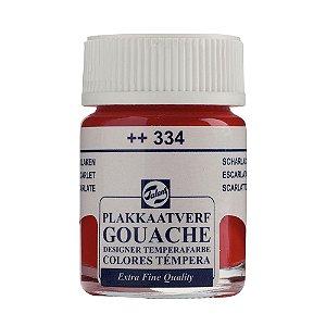 Tinta Gouache Talens Extra Fine 16ml Scarlet 334 Vermelho