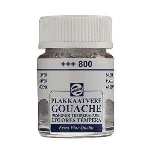 Tinta Gouache Talens Extra Fine 16ml Silver 800 Prata