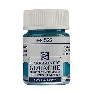 Tinta Gouache Talens Extra Fine 16ml Turquoise Blue 522