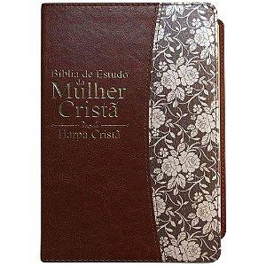 Bíblia De Estudo Da Mulher Cristã - Capa Marrom Média C/ Harpa