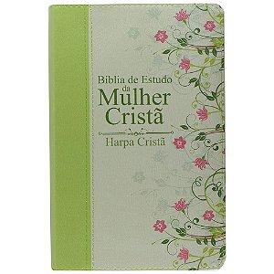 Bíblia De Estudo Da Mulher Cristã - Capa Verde Média C/ Harpa