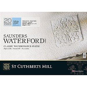 Bloco Aquarela Saunders W. 51x36 Grão Fino 300 g/m² 20Fls C4L Branco Natural