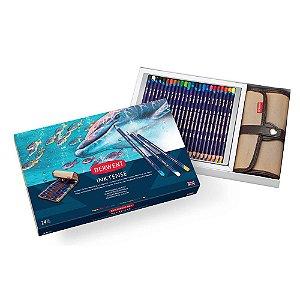 Lápis Cor Derwent Aquarelável Inktense 24 Cores + Estojo
