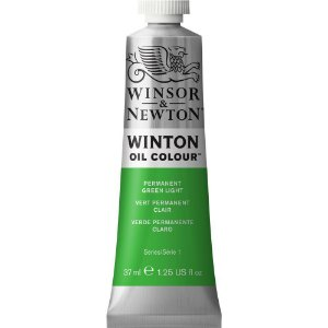 Tinta Óleo Permanent Green Light Winsor & Newton 37ml 1414483