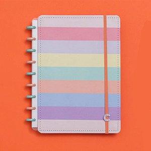 Caderno Inteligente Grande Arco-íris Pastel 80 Fls
