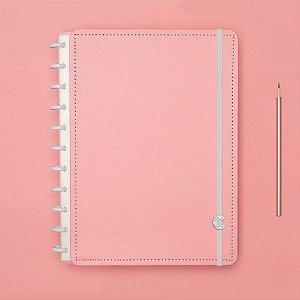 Caderno Inteligente Grande Rose Pastel Rosa 80 Fls