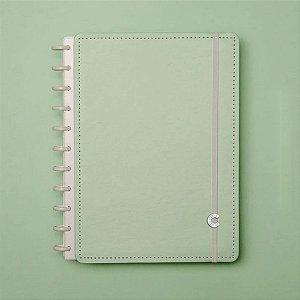Caderno Inteligente Grande Verde Pastel 80 Fls