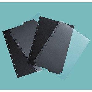 Divisórias Básicas A5 Caderno Inteligente Preta Transparente